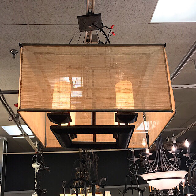 Troy Lighting Raffia Semi Flush Ceiling Light