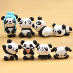 Load image into Gallery viewer, kawaii, cute cartoon pandas, fridge magnets, funny, cute, adorable, playful, funny, sweet, magnets, fridge decor, fun, decor, accessories,