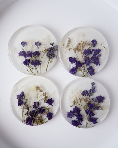 Blue Mist Frosted Coasters