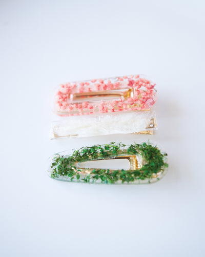 Holiday Floral Hair Clips
