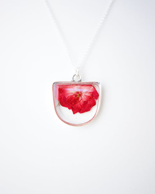 Falling Rose Necklace