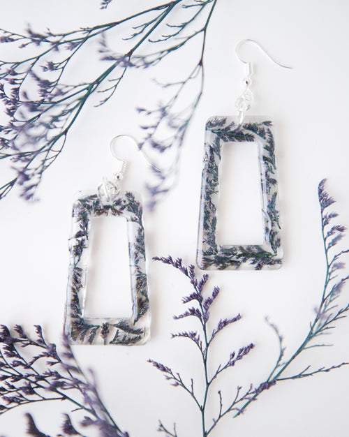Be Square Larkspur Earrings
