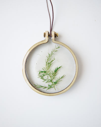 """The Fern"" Round Keepsake Ornament"