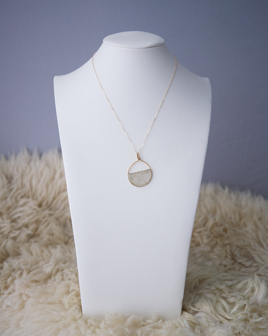 Skeleton Leaf Drop Necklace