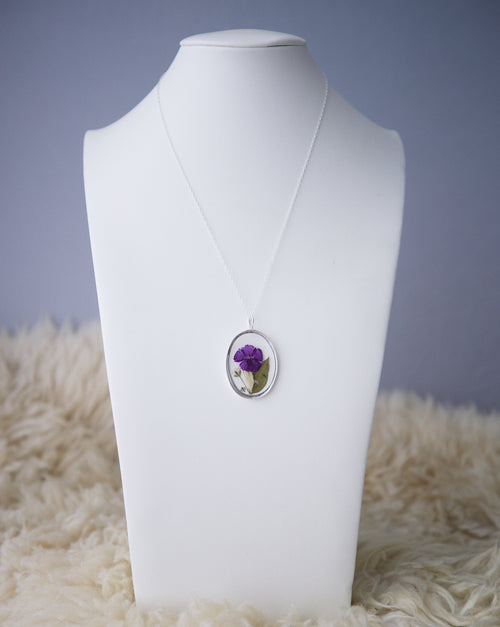 Purple Bouquet Necklace