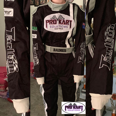 SFI 2 layer suit custom with arm restraints (speedway)