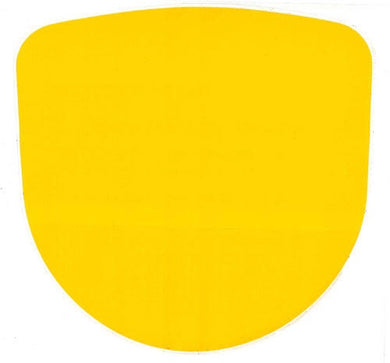 Number Plate Nassa Yellow Full Gloss Sticker 205 x 200mm