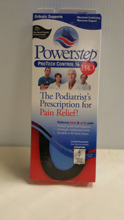 Powerstep Protech Control - 3/4 Length Orthotic Insole Shoe Inserts