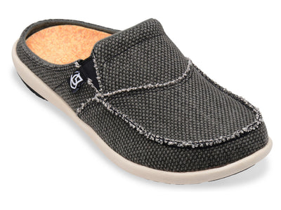 Spenco Men's Canvas Slide Charcoal Grey