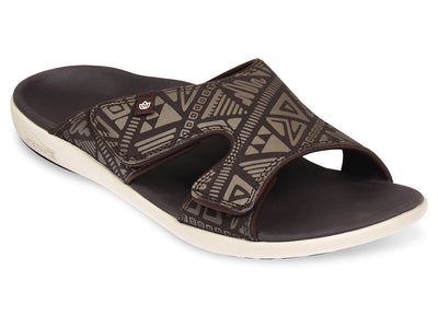 Spenco Men's Tribal Slide Coffee Bean