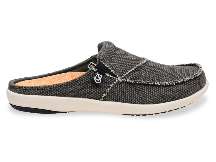 Spenco Women's Canvas Slide  Charcoal Grey