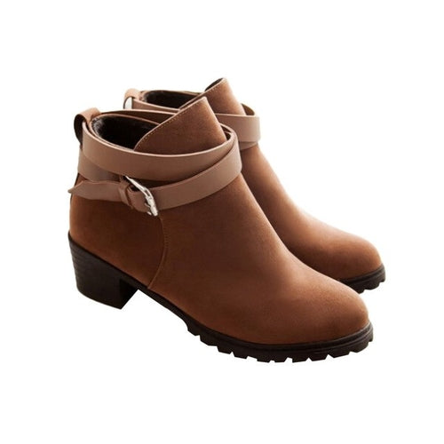 Women's Short Ankle Boots Casual Snow Warm Boots