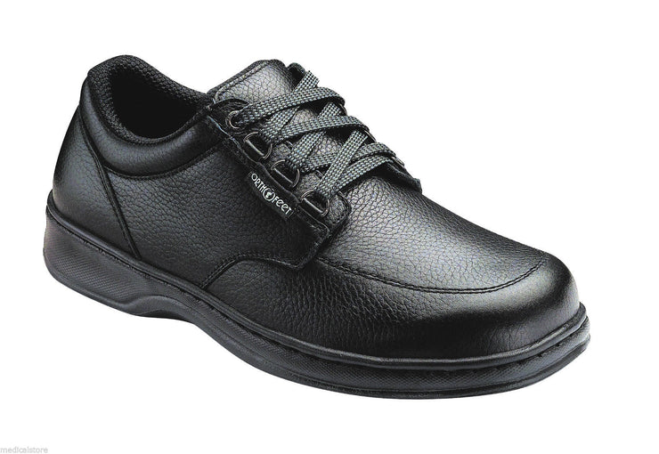 AVERY ISLAND ORTHOFEET BLACK MEN'S COMFORT - SPEED LACE DIABETIC SHOES - 410