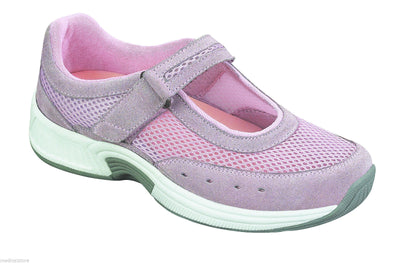 Bristol Pink Velcro - Orthofeet -  Casual - Mary Jane Diabetic Shoes  - 856