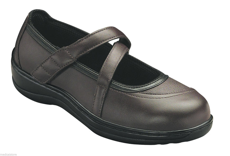 Celina - Velcro - Orthofeet - Casual  Manhatten Mary Jane Diabetic Shoes  - 864