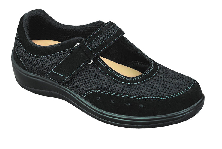 Chattanooga Black Velcro - Orthofeet -  Casual - Mary Jane Diabetic Shoes  - 851