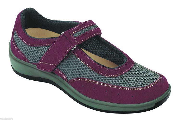 Chattanooga Red Velcro - Orthofeet -  Casual - Mary Jane Diabetic Shoes  - 859