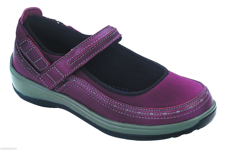 Chickasaw Red - Velcro - Orthofeet - Casual - Mary Jane Diabetic Shoes  - 879