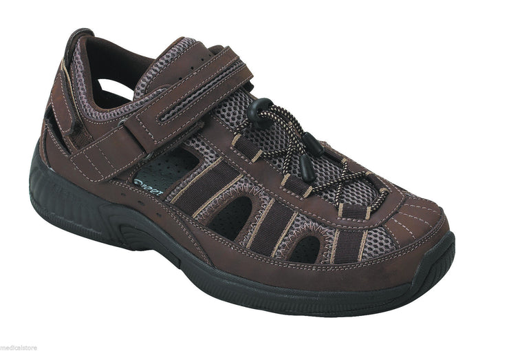 Clearwater Othrofeet - Men's Two-Way Strap Sandal Brown - DIABETIC SHOES - 573