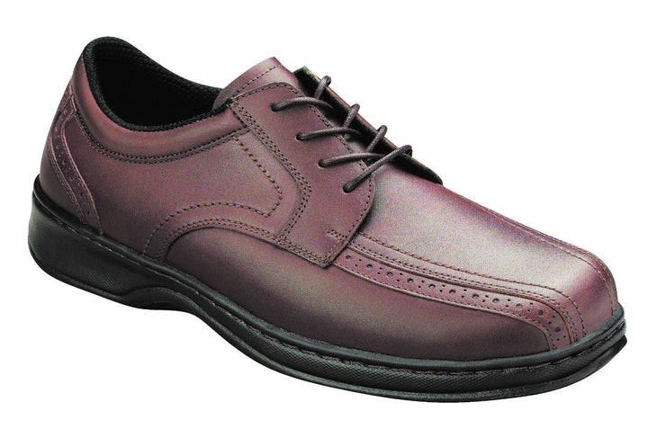Gramercy - Orthofeet - Brown Dress Shoe - Oxford Laces - Diabetic Shoe - 467