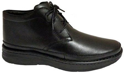 Keith Drew Black Men Diabetic Leather Casual Boots
