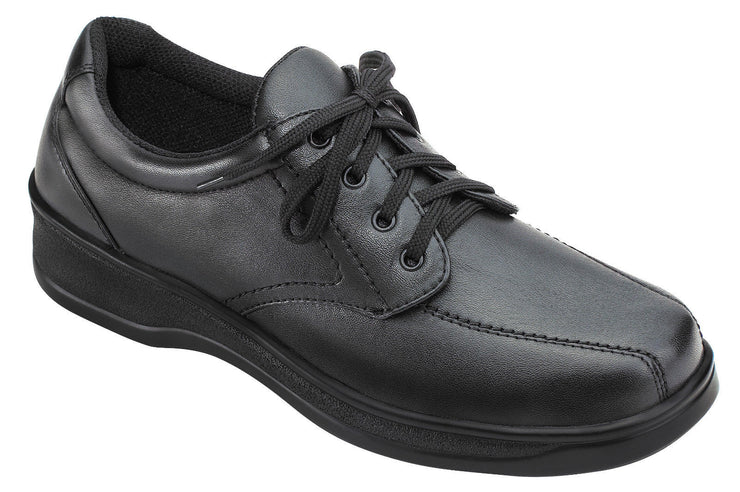 Lake Charles Black - Orthofeet -  Casual - Walking Diabetic Shoes  - 701