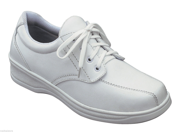 Lake Charles White - Orthofeet -  Casual - Walking Diabetic Shoes  - 708