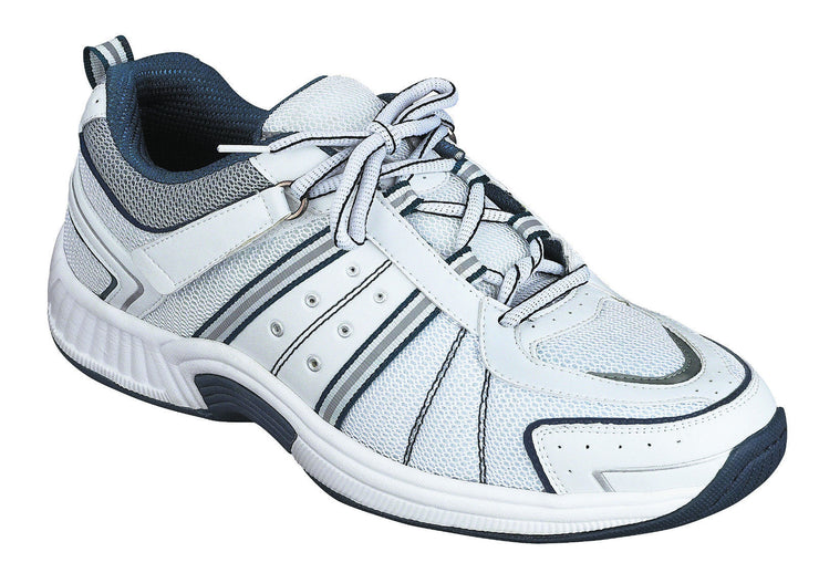 Montery Bay Orthofeet White Walking Running Shoe - Laces - Diabetic Shoe - 610