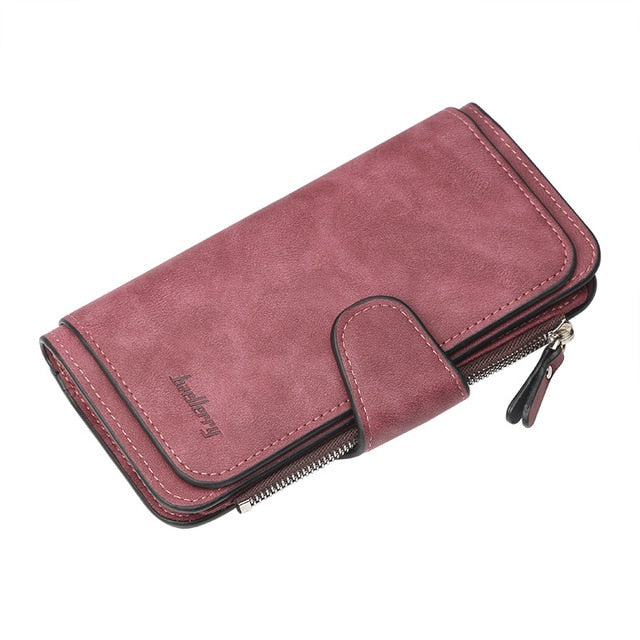 Leather Women Wallets Coin Pocket Hasp Card Holder Money Bags Casual Long Ladies Clutch Phone Wallet Women Purse