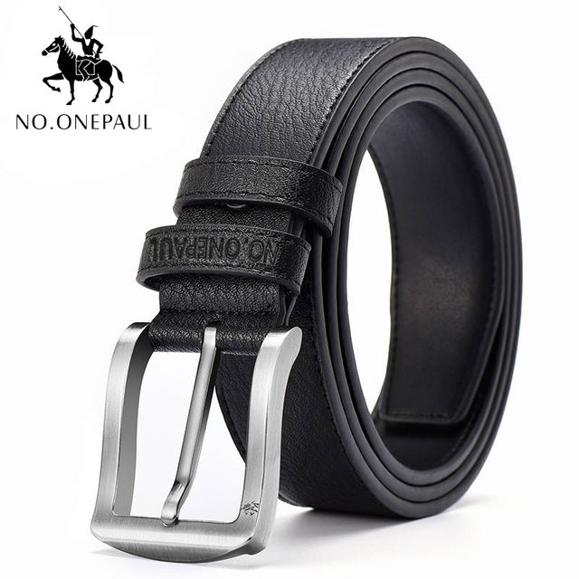 NO.ONEPAUL Authentic men's leather business fashion retro  belt alloy pin buckle new buckle men's jeans wild belt free shipping