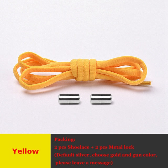 Elastic Shoe laces Round No Tie Shoelaces