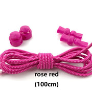 Stretching Lock lace 23 colors a pair Of Locking Shoe Laces Elastic Sneaker Shoelaces Shoestrings Running/Jogging/Triathlon
