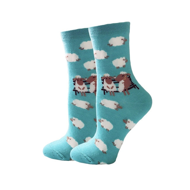 Women's Socks Japanese Cotton Colorful Cartoon Sheep