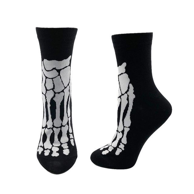 Women's Socks Japanese Cotton Skeleton Feet