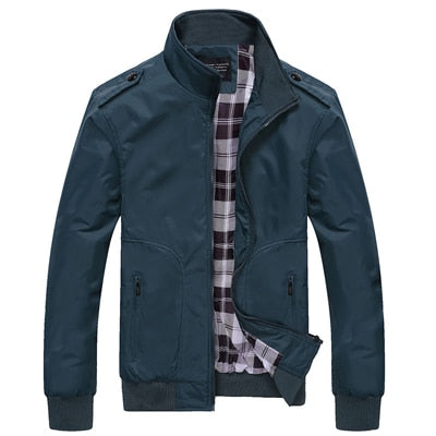 Men's Casual Plaid Lined Jacket