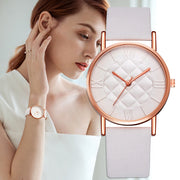 Leather Band Quartz Wrist Watch