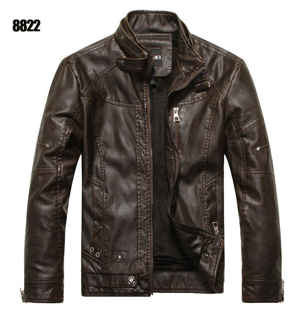 Rugged Leather Men's Jacket