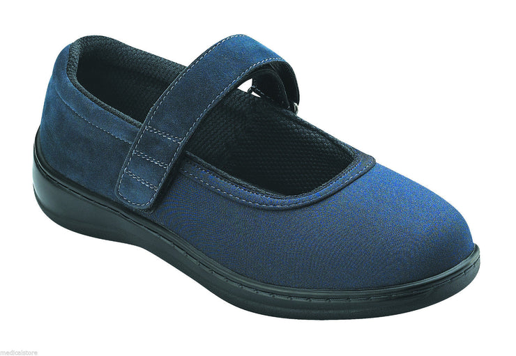 Springfield Blue Velcro - Orthofeet -  Casual - Lyrica Diabetic Shoes  - 826