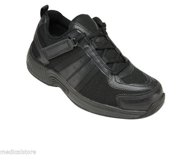 Tahoe - Orthofeet - Womens Athletic Diabetic Shoes 911 Black - TieLess