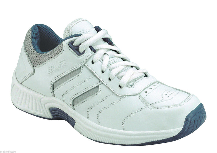 Whitney - Orthofeet - Womens Athletic Lace Diabetic Shoe White Model #940