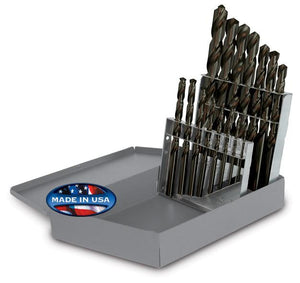 Drill Sets - Jobber - 15 pc. Black Oxide - 118° Point - Fractional Sizes - 95090811