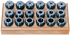 "TECHNIKS 10 Pc. Collet Set - 1/32 to 3/8"" - ER16 Style Round Open"