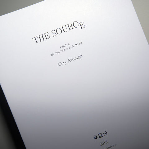 Cory Arcangel: The Source Issue #6: HP Pen Plotter Hello World (SRF-022)