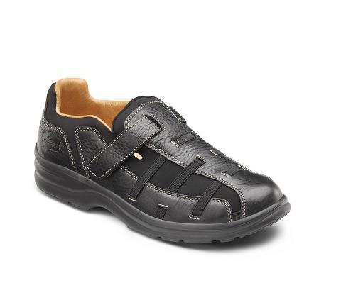 DR COMFORT-3810-BLACK-Betty Black Velcro
