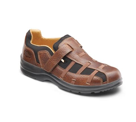 DR COMFORT-3820-CHESTNUT-Betty Chestnut Velcro