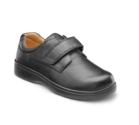 DR COMFORT-4110-BLACK-Maggy X-Depth Black Velcro