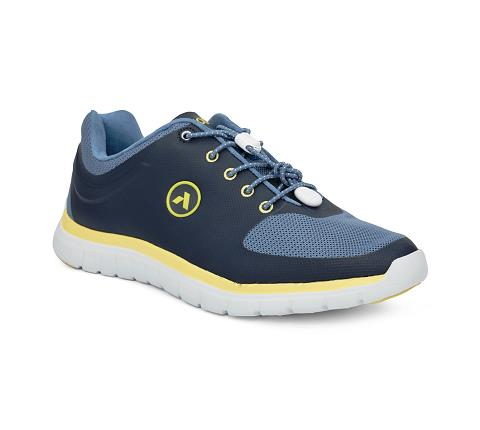 ANODYNE-M022:Blue:Yellow-BLUE-Sport Runner-Lace