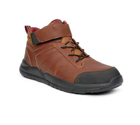 ANODYNE-M056:Whiskey-BROWN-Trail Boot-Velcro