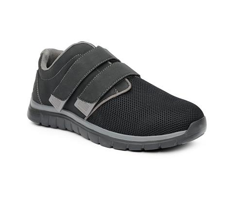 ANODYNE-M074:Black:Grey Double Depth-BLACK/GREY-Double Depth Sport Jogger-Velcro
