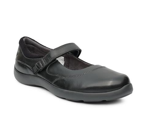 ANODYNE-W019:Black-BLACK-Casual Mary Jane-Velcro